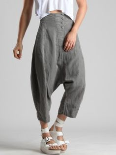 SUPER LOW CROTCH TENCEL PANTS