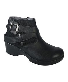 Love this Black Eva Leather Ankle Boot by Alegria on #zulily! #zulilyfinds