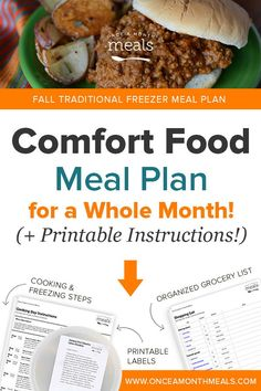 Looking for Freezer Meals on a Budget? Check out our Fall Traditional Freezer Menu with easy to prep Dump and Go recipes that will please everyone in the family. Clean Breakfast, Sweet Breakfast, Breakfast Recipes, Recipes Dinner, Freezable Meals, Freezer Meals, Freezer Recipes, Budget Meals, Budget Cooking