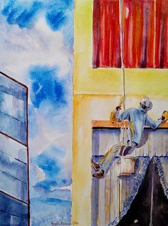 Developing country #developing #country #people #healthandsafety #atwork #atwork #drawing #prints at $27 #painting #concept #art #highrise #buildings #India