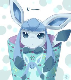 Glaceon from Pokemon, eevee evolution, so cute :3
