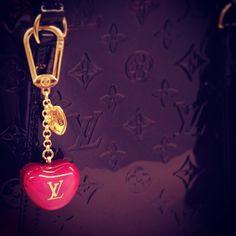 Louis Vuitton bag charm.
