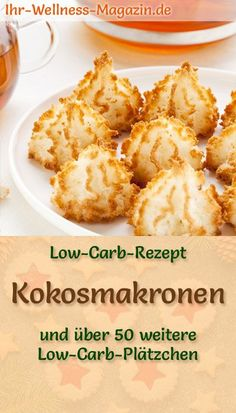 Low Carb Coconut Macaroons - Simple Cookie Recipe for Christmas Biscuits - Keto Recipes Easy Casserole Recipes, Easy Soup Recipes, Easy Cookie Recipes, Healthy Recipes, Keto Cookies, Christmas Biscuits, Christmas Cookies, Coconut Macaroons, Low Calorie Recipes