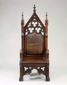 Gothic Chairs Looked Like Thrones And Its Tables And