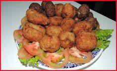 Bolinho de Carne moida com Batata e Mandioca