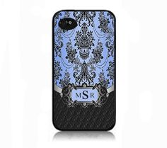 Monogram monogram iphone 4 case iphone 4 case blue by IphoneDesign,