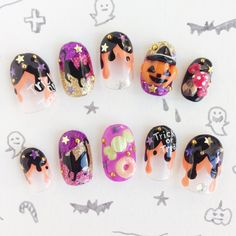 Hey, I found this really awesome Etsy listing at http://www.etsy.com/listing/164686889/halloween-3d-nail-tips-japanese-kawaii