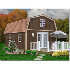 Best Barns Richmond 16 x 32 Wood Shed - Shed Town USA