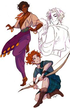 Disney gender swap. Brave is not my favorite but Esmeralda looks awesome