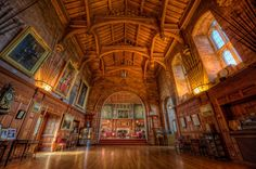 Bamburgh Castle - Great Hall Restored by Lord William Armstrong The Armstrong Family I will make a board for this castle
