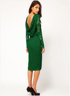 Embroidered long-sleeved round neck sexy halter dress