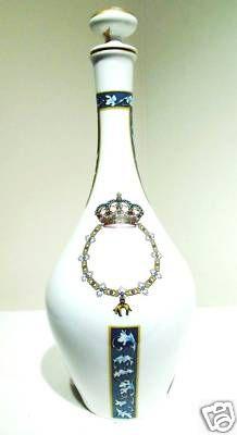Vtg Porcelain Liquor Bottle Decanter Santa Clara Spain | eBay