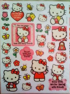That Hello Kitty sticker reminds me of being eleven, of being okay, of a time when my mind had less racing thoughts. You remind me of these things too.--34 Pieces of You, a novel.
