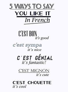 5 Ways to ay You Like it in French