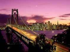 San Francisco and the Bay Bridge. I traveled this bridge every day for over 15 years from the Oakland hills to my shop in SF . I left my heart in San Francisco! Baie De San Francisco, San Francisco Bridge, San Francisco California, California Dreamin', Northern California, California Honeymoon, Hollywood California, California Wedding, Wallpaper World