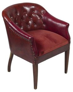 ... to Paint a Leather Chair - goodbye to my ugly mauve overstuffed chair