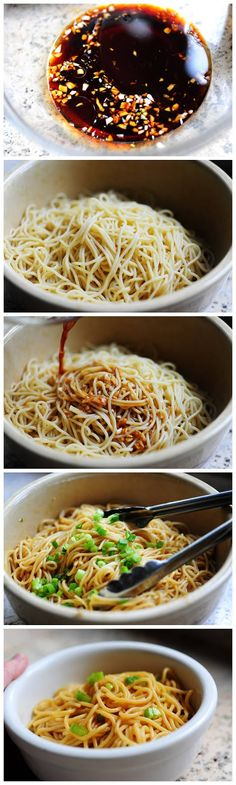 Simple Sesame Noodles- with gluten free modifications, this will be awesome :)