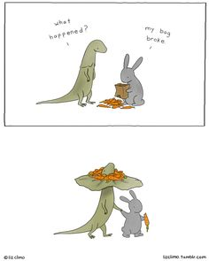 Awkward Everyday Lives Of Animals By Simpsons Illustrator Liz Climo http://www.boredpanda.com/cute-animal-illustrations-liz-climo/