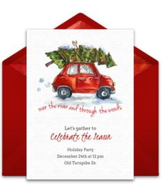 We just love this free Christmas invitation design. It's the perfect way to invite friends and family over for a Christmas party. Easily personalize and send to guests online via email. Christmas Party Themes, Christmas Party Invitations, Xmas Party, Christmas Printables, Free Christmas Invitation Templates, Holiday Crafts, Holiday Ideas, Party Time, Halloween Decorations