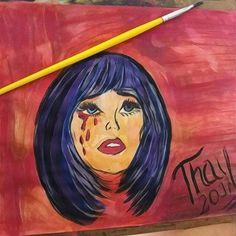 Pintura com aquarela #tintaaquarela #mulher #poparte