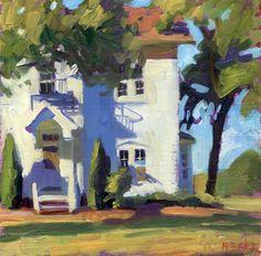 "Daily Paintworks - ""White buildings in the sun"" - Original Fine Art for Sale - © Kathy Weber Kathy Weber, Cityscape Art, Virtual Art, Building Art, Guache, Paintings I Love, Art And Illustration, Fine Art Gallery, Art Techniques"