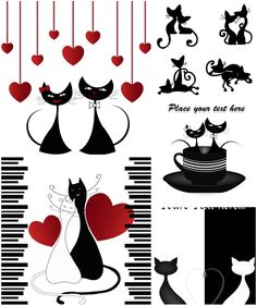Lovers cats vector