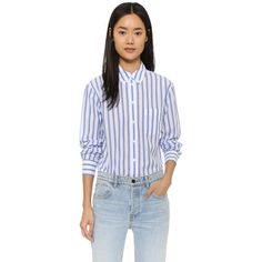 Equipment Margaux Button Down Shirt ($190) ❤ liked on Polyvore featuring tops, long sleeve tops, shirts & tops, equipment shirts, button up shirts and cotton shirts