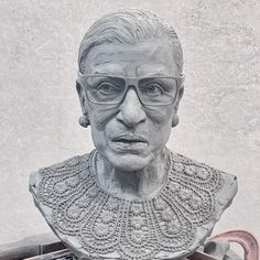 """When Justice Ruth Bader Ginsburg died, I like many felt the loss, and as a sculptor wanted to bring her 'back to life' and freeze the passing river of time. This clay bust is in progress and will take a while to complete. The sculpture grew out of a feeling that although she accomplished so much for women's rights, she died too young, too soon, because there is still so much work to do."" - Zenos Frudakis #RuthBaderGinsburg #RGB #NotoriousRGB #Ginsburg #ZenosFrudakis #sculpture #women Freedom Sculpture, Justice Ruth Bader Ginsburg, Freeze, Felt, Take That, Clay, River, Statue, Portrait"