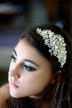 Bridal Headband Hair Accessories Wedding Head band by simplychic93, $139.00