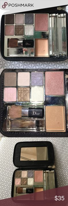 DIOR Eye Shadow + Blush Palette My mom gave me this as a hand me down and it looks like it's been lightly used. Please let me know if you have any questions or concerns!!! Feel free to make an offer!!! 😄 Dior Makeup Eyeshadow