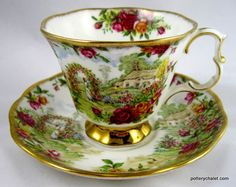 royal+albert+old+country+roses | Royal Albert 25th Anniversary Old Country Roses Cup and Saucer