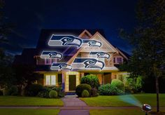 NFL House Home LED Pride Projector Projection Light Indoor Outdoor Seattle Seahawks