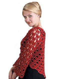 Crochet bolero by Doris Chan - free pattern