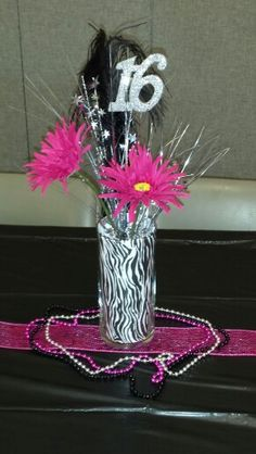 Sweet 16 Centerpieces Fifteen 15 13th Birthday Parties 16th