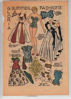 Vintage Original Gloria from Katy Keene Summer Fashions PAPERDOLL Page Bonus   eBay
