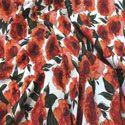 Burnt Orange Autumn Floral Print (7979)