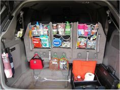 The Castro HAPPYnings: Junk in the trunk - per request :) organization, organizer, organization, organizer Organisation Hacks, Storage Organization, Organizing Ideas, Shoe Organizer, Minivan Organization, Car Storage, Car Organizers, Storage Ideas, Household Organization