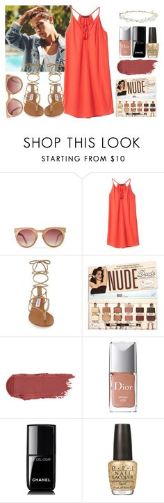 """""""Summer Photoshoot w/ Cameron Dallas"""" by rosa97400 ❤ liked on Polyvore featuring Banana Republic, Steve Madden, Christian Dior, Chanel, OPI and Design Lab"""
