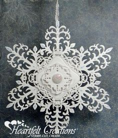 Heartfelt Creations | White Hanging Snowflake