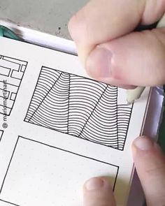 Easy geometric pattern inspiration for bullet journal Doodle Art Designs, Doodle Patterns, Geometric Patterns, Easy Zentangle Patterns, Simple Geometric Pattern, Doodle Art Drawing, Zentangle Drawings, Mandala Drawing, Zen Doodle