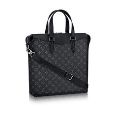 Discover Louis Vuitton Tote Explorer: This tote's modern shape is for businessmen who care about style. With its supple leather details and zipper closure, the Tote Explorer in masculine Eclipse Monogram canvas delivers an understated but distinctly fashionable look.