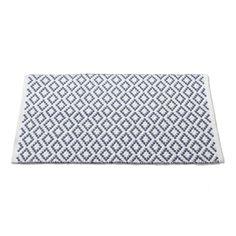 Diamond Pebble Rug 2x3 Wht Blue by Coyuchi - 100% organic cotton