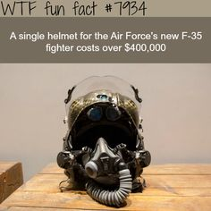 This helmet costs $400,000 - WTF fun facts