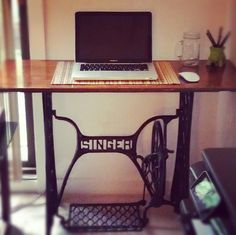 Singer Sewing Machine Desk.  Making this today!
