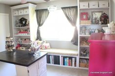I think I want to put a shelves below the windows...and storage on both sides.