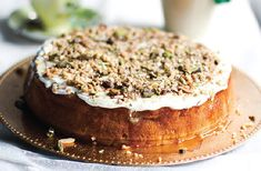 Apple & yoghurt cake with labne icing & sweet dukkah | Nourish magazine Australia