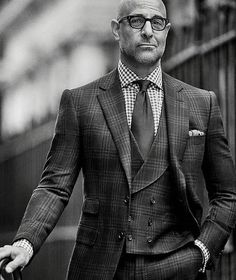 the-suit-men: Stanley TucciSource: The Rake MagazinePhotography. the-suit-men: Stanley Tucci Source: The Rake Magazine Photography by Tomo Brejc sourceMore menswear & suits! Sharp Dressed Man, Well Dressed Men, Handsome Men Quotes, Casual Mode, Style Masculin, Bald Men, Suit And Tie, Gentleman Style, Looks Style