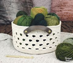 Rustic Lace Basket Crochet Pattern