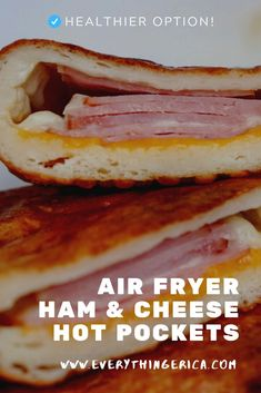 These Air Fryer Ham & Cheese Hot Pockets are the perfect snack for people on the go. Just pop them in your air fryer and you have a nice hot meal on the go. Air Fryer Dinner Recipes, Air Fryer Recipes, Brunch Recipes, Snack Recipes, Sandwich Recipes, Breakfast Recipes, Hot Pockets, Air Fryer Healthy, Puff Pastry Recipes