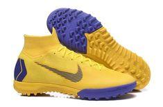 aa84c5dcd3442 Lightest Nike Mercurial SuperflyX VI Elite TF Soccer Cleats -  Yellow/Purple/Black